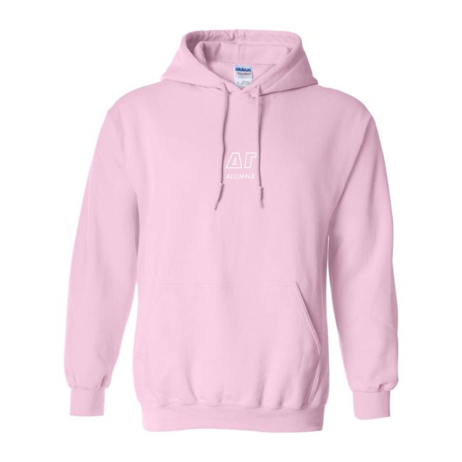 Alumna Pink Embroidered Hoodie <br> (sororities A-D)