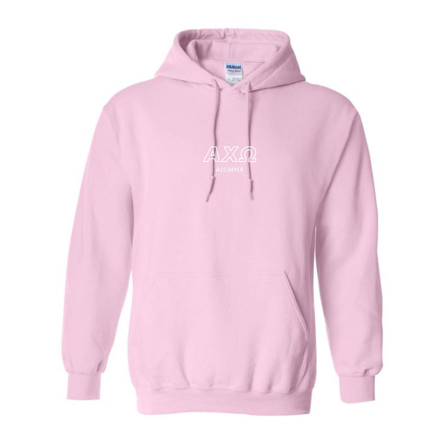 Ali & Ariel Alumna Pink Embroidered Hoodie <br> (sororities A-D)