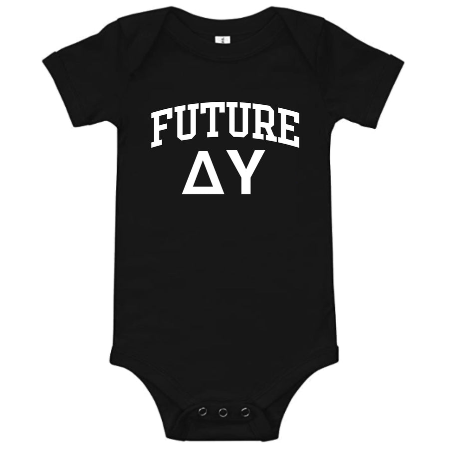 Ali & Ariel Black Baby Onesie <br> (available for all fraternities)