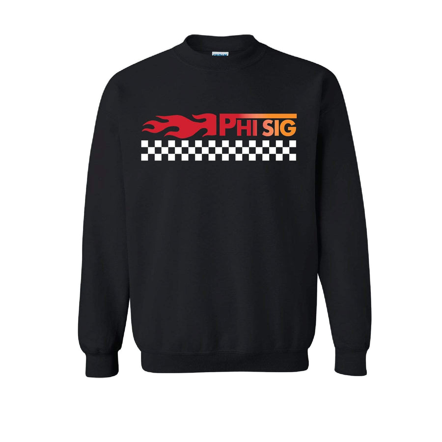 Black Checkered Flame Fleece <br> (available for all organizations!)