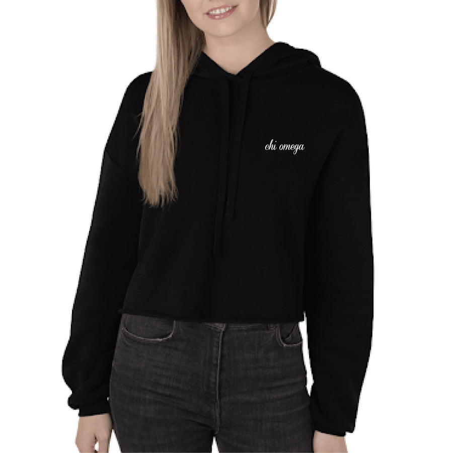 Black Embroidered Boxy Hoodie <br> (available for most organizations!)