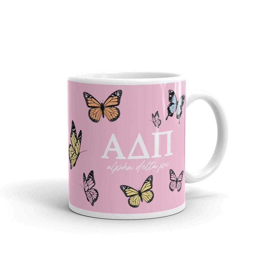 Ali & Ariel Butterfly Mug (available for multiple organizations!) Alpha Delta Pi / 11 oz