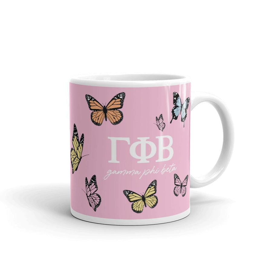 Ali & Ariel Butterfly Mug (available for multiple organizations!) Gamma Phi Beta / 11 oz