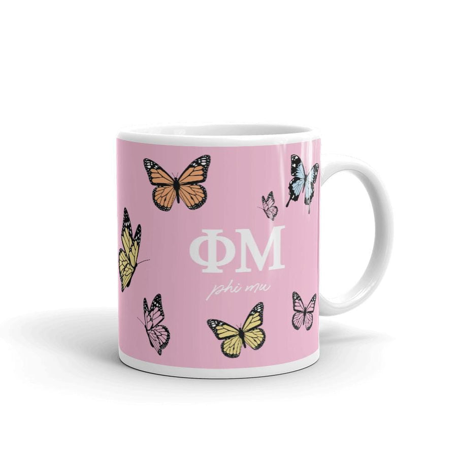 Ali & Ariel Butterfly Mug (available for multiple organizations!) Phi Mu / 11 oz