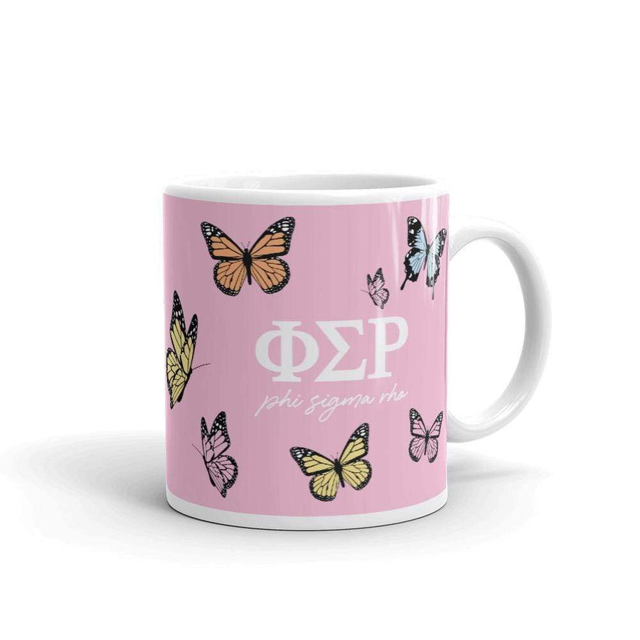 Ali & Ariel Butterfly Mug (available for multiple organizations!) Phi Sigma Rho / 11 oz