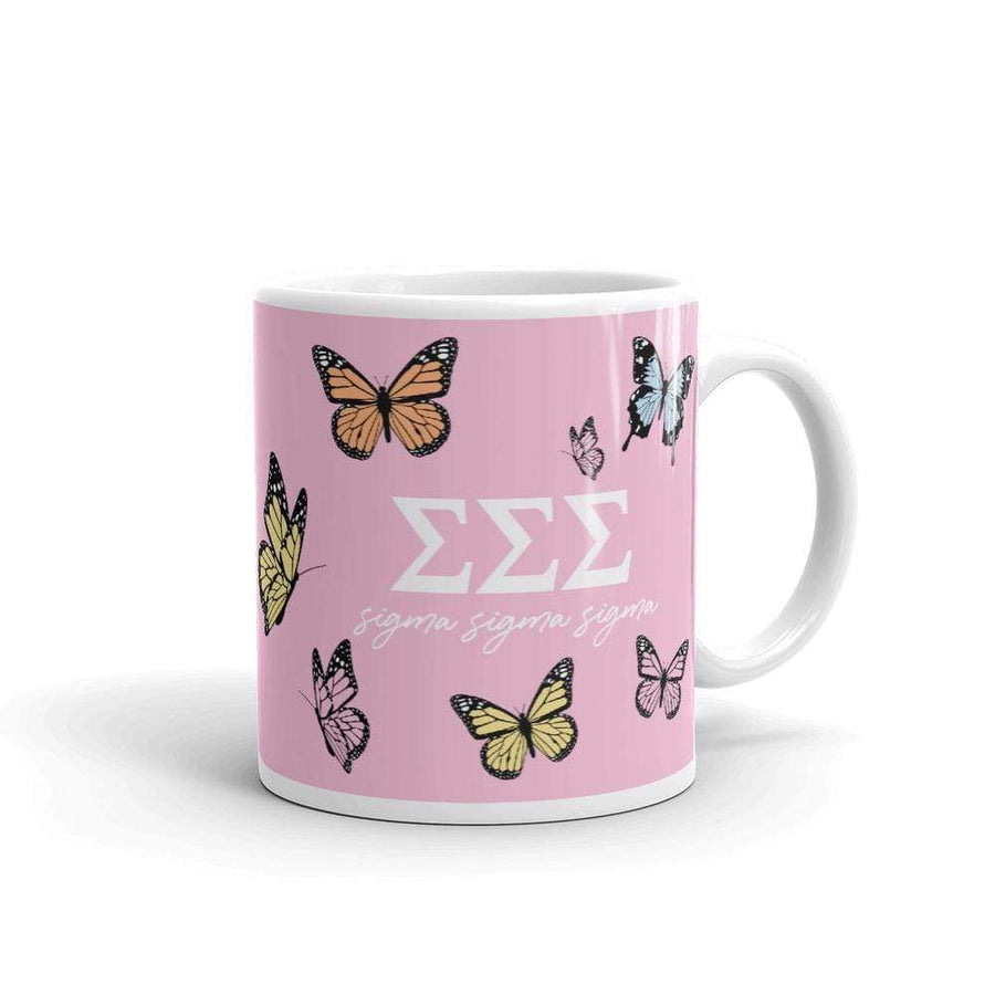 Ali & Ariel Butterfly Mug (available for multiple organizations!) Sigma Sigma Sigma / 11 oz