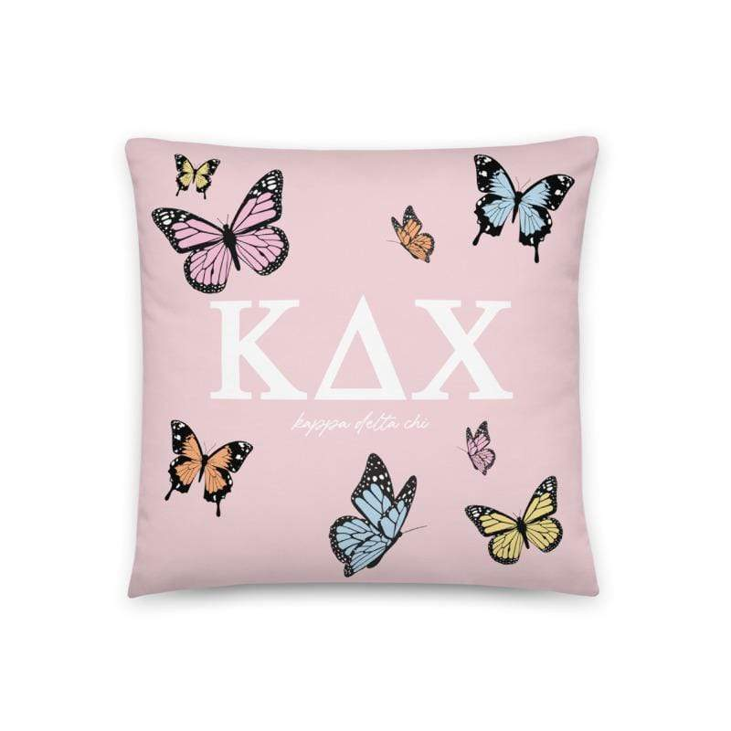 Ali & Ariel Butterfly Pillow <br> (available for multiple sororities) Kappa Delta Chi