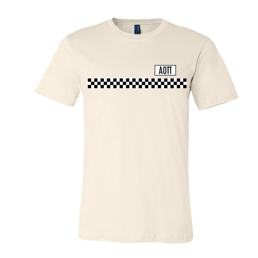 Checkered Stripe Tee <br> (available for all organizations!)
