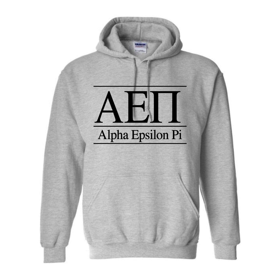 Ali & Ariel Classic Letters Hoodie in Sport Grey <br> (available for all fraternities)