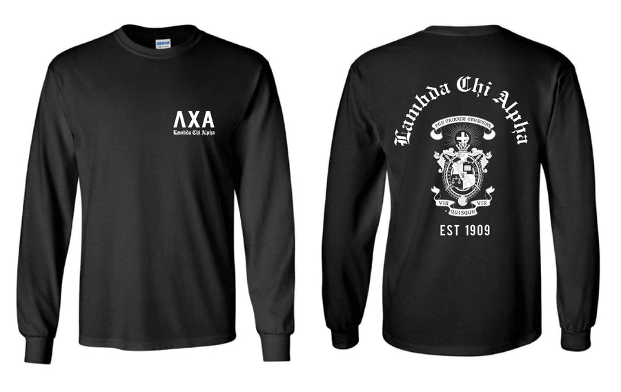 Crest Long Sleeve Tee <br> (available for multiple fraternities!)