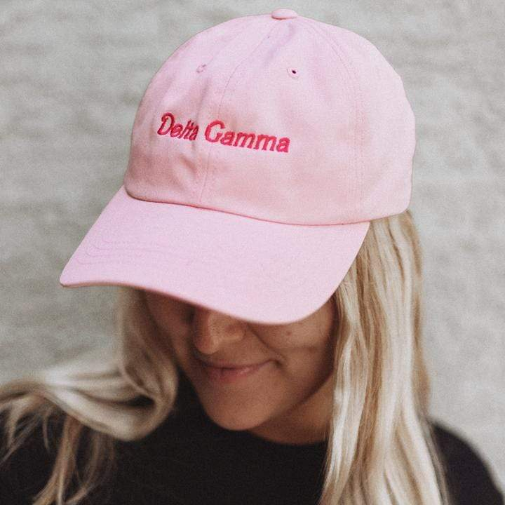 Ali & Ariel Dream House Pink Baseball Hat <br> (available for all sororities)