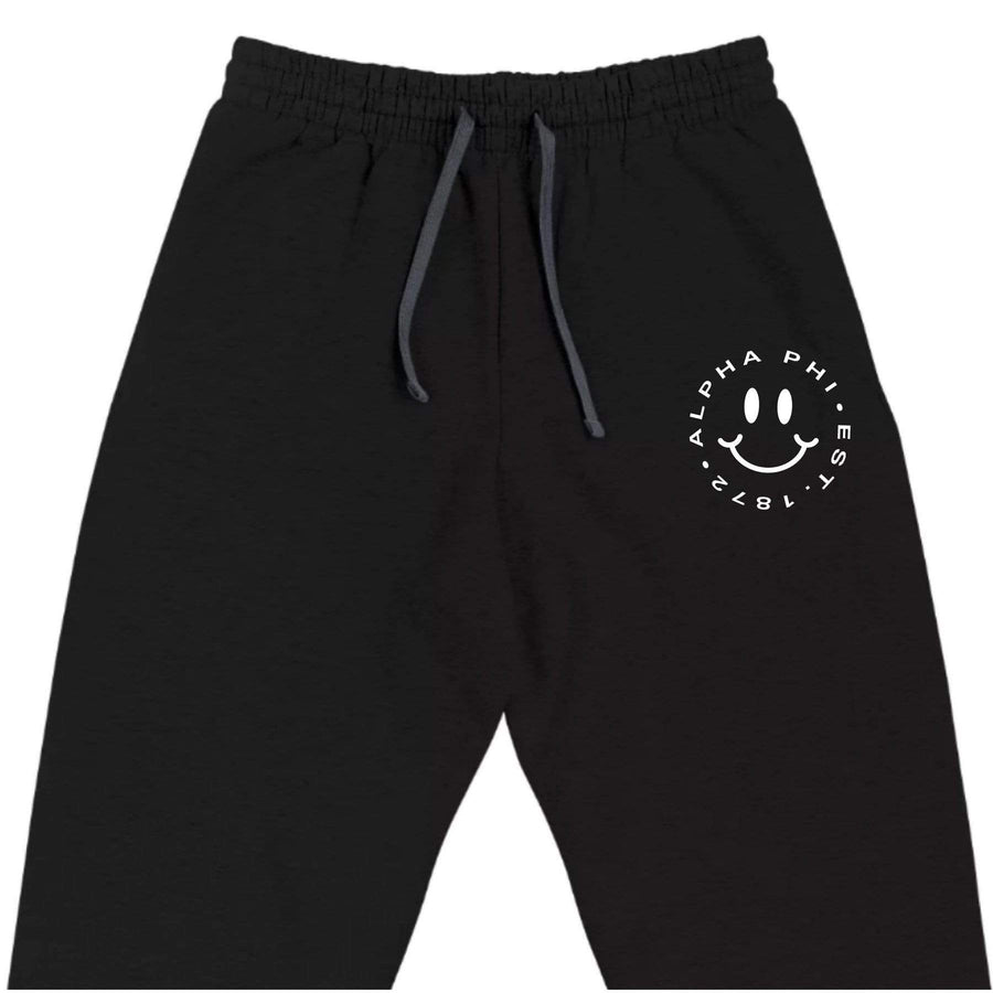 Ali & Ariel Embroidered Smiley Joggers <br> (sororities A-D)