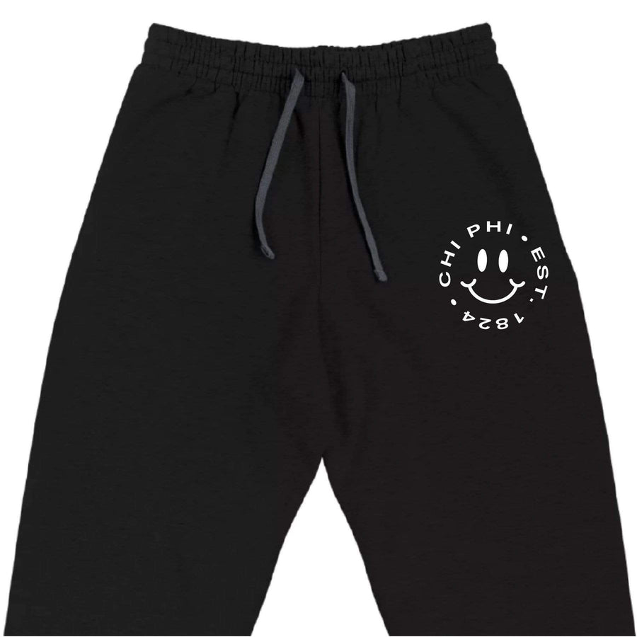 Ali & Ariel Embroidered Smiley Joggers (Mens) <br> (available for all fraternities)