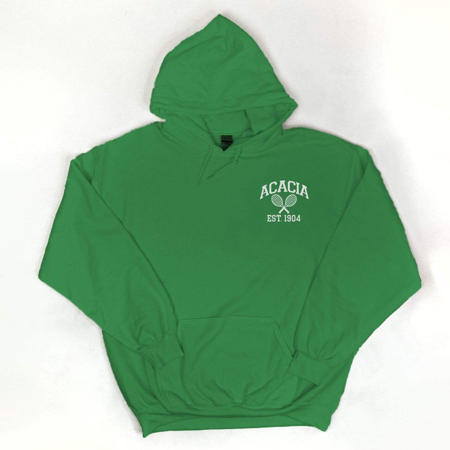 Ali & Ariel Embroidered Tennis Hoodie <br> (available for all fraternities)