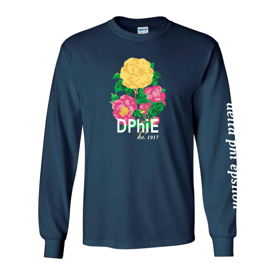 Ali & Ariel Floral Long Sleeve Tee <br> (sororities A-D)