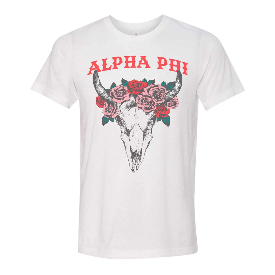Floral Longhorn Tee <br> (available for multiple organizations!)