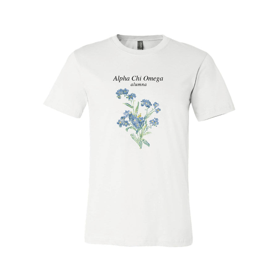 Ali & Ariel Forget Me Not Alumna Tee <br> (sororities A-D)