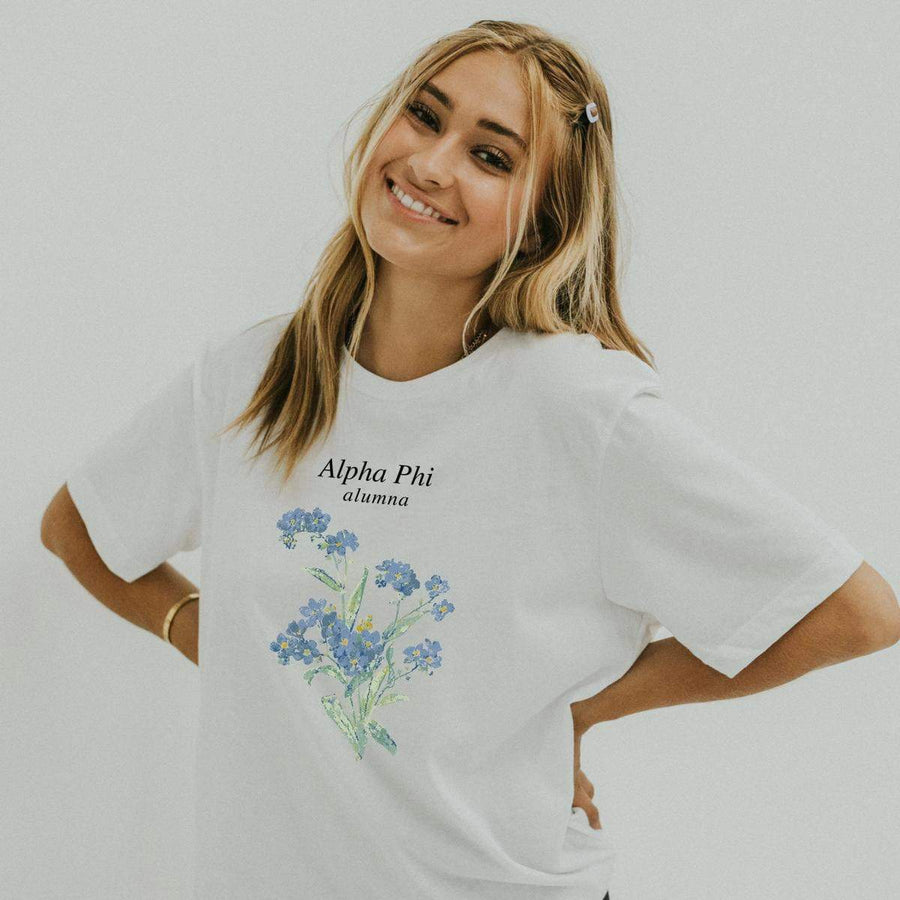 Forget Me Not Alumna Tee <br> (sororities G-Z)