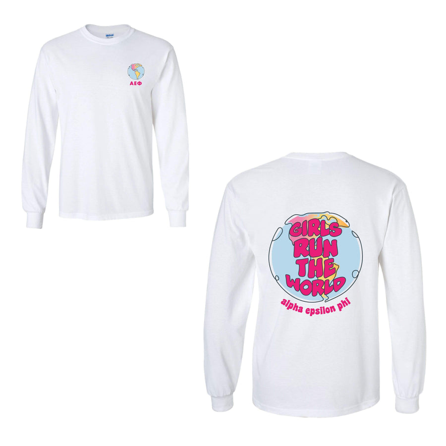 Ali & Ariel Girls Run the World Long Sleeve <br> (sororities A-D)