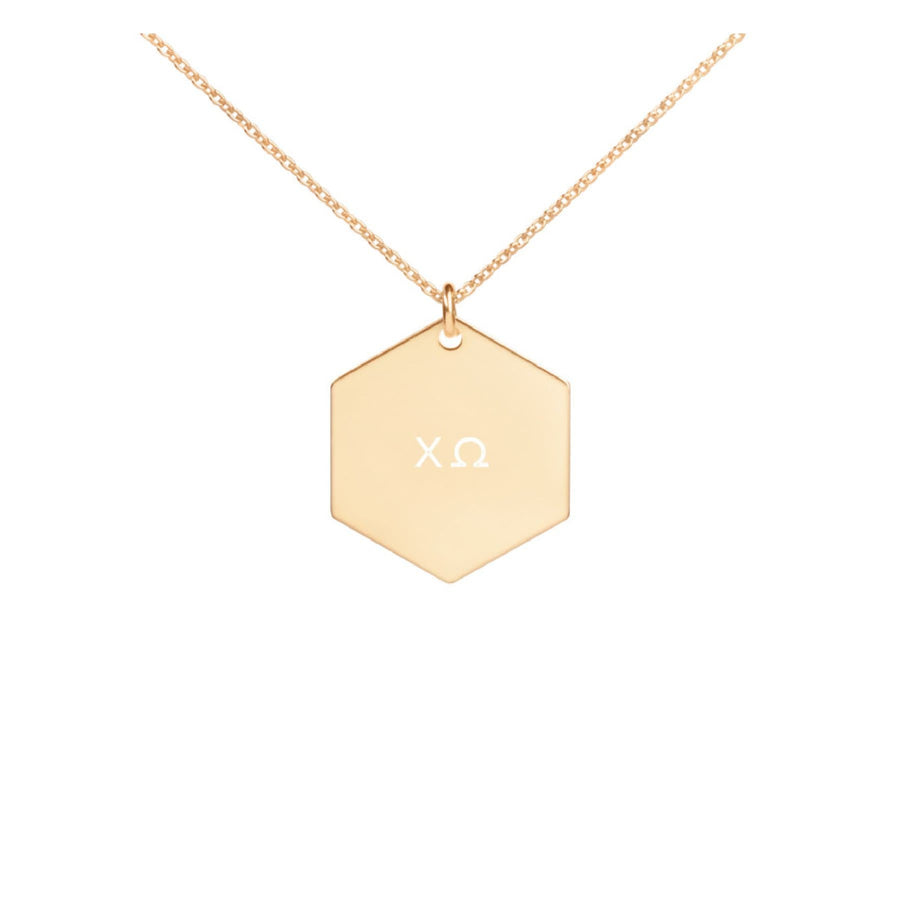 Greek Hexagon Necklace - Gold <br> (available for all organizations!)