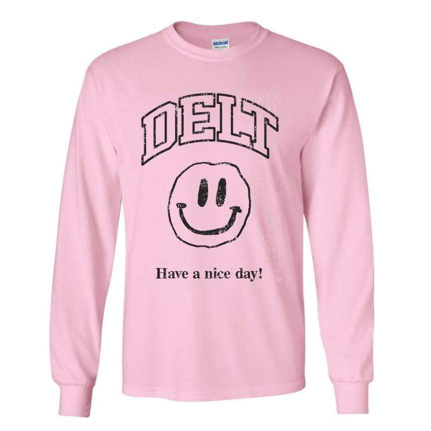Ali & Ariel Have a Nice Day Long Sleeve in Pink <br> (available for all fraternities)