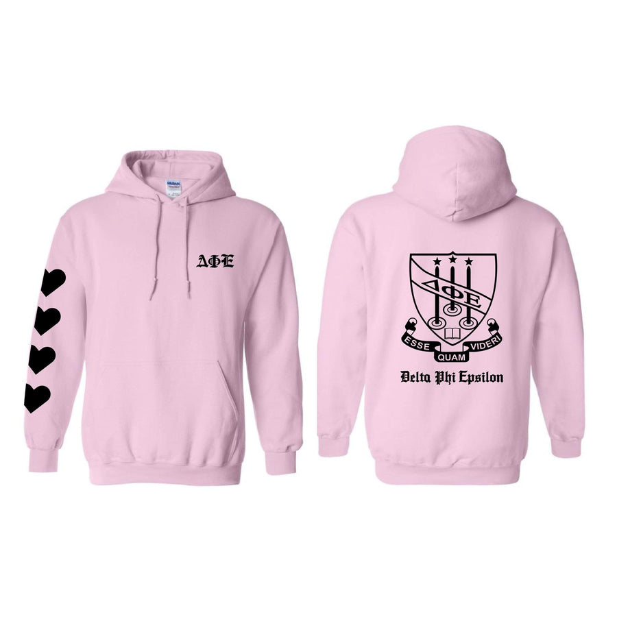 Heart On My Sleeve Hoodie <br> (sororities A-D)