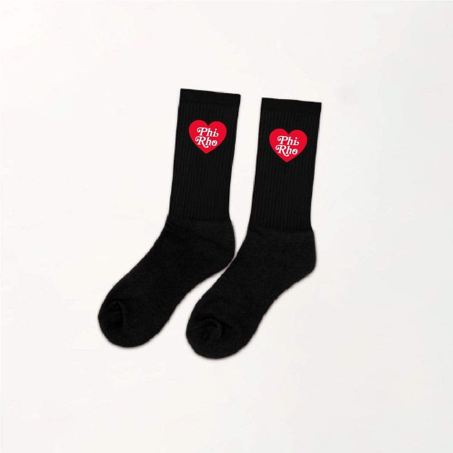 Ali & Ariel Heart Socks <br> (available for all sororities)
