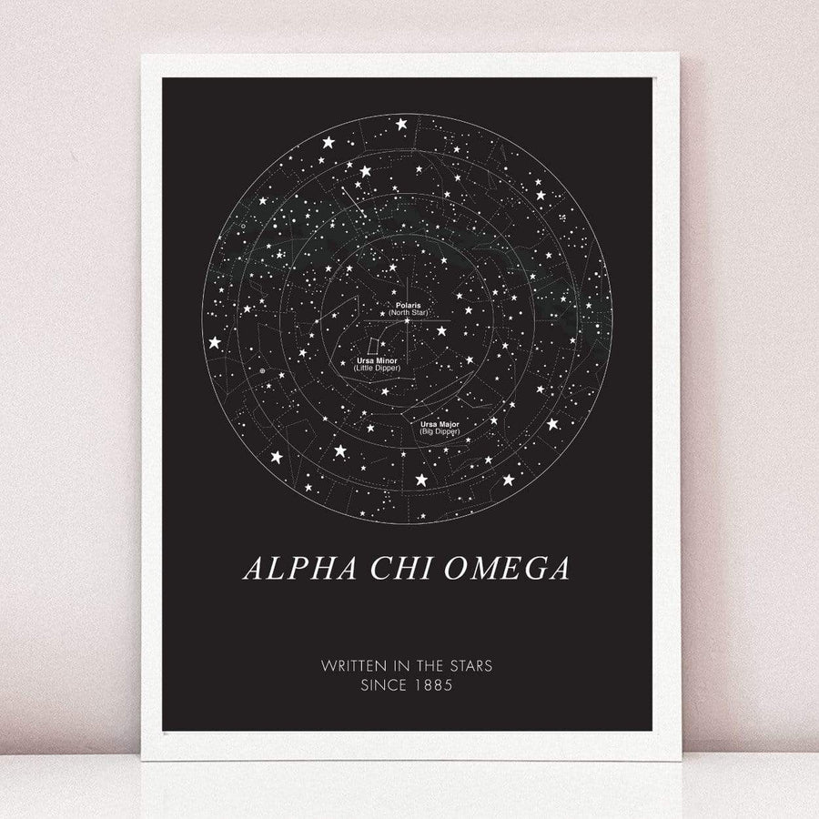In the Stars Art Print in White Frame