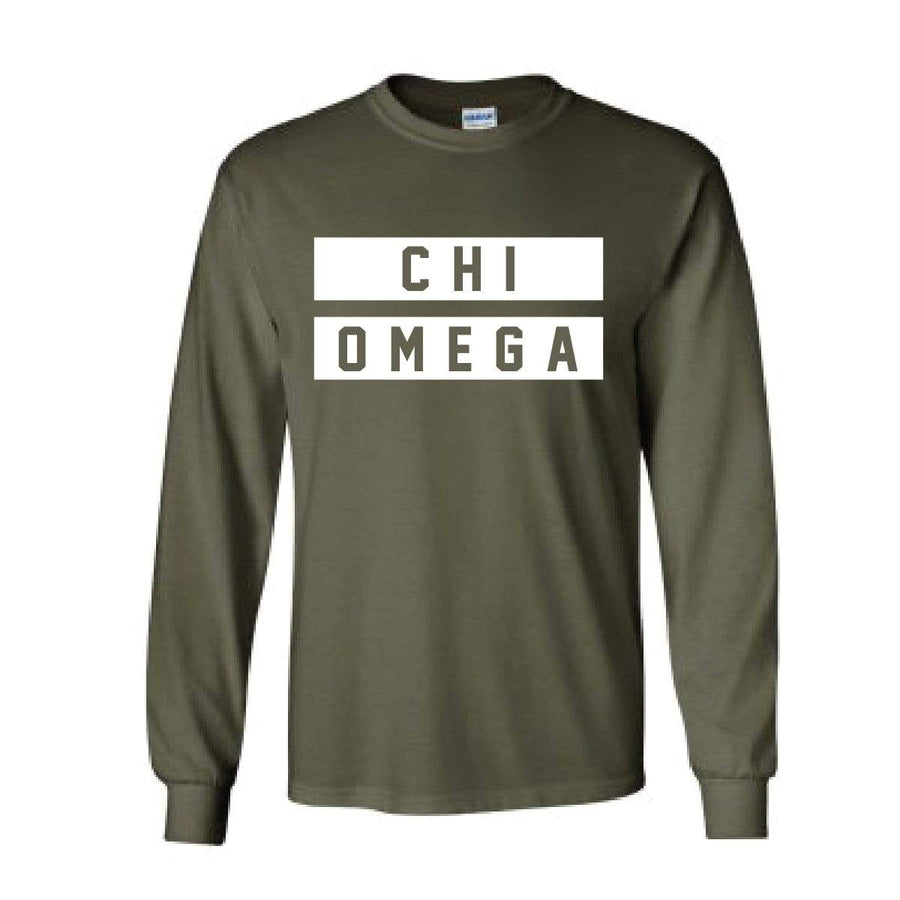 Military Green Jersey Stripe Long Sleeve <br> (available for every organization!)