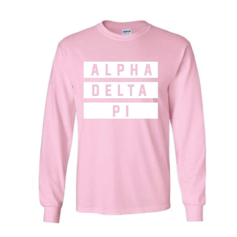 Millennial Pink Jersey Stripe Long Sleeve <br> (available for every organization!)