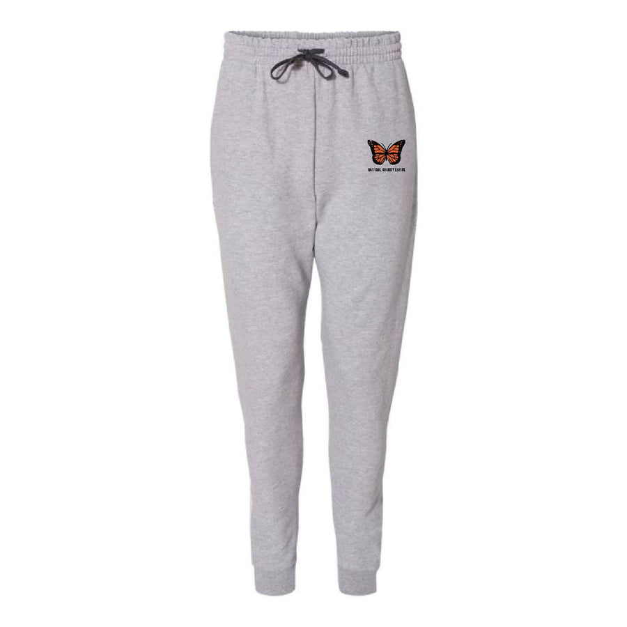 National Charity League Embroidered Butterfly Joggers