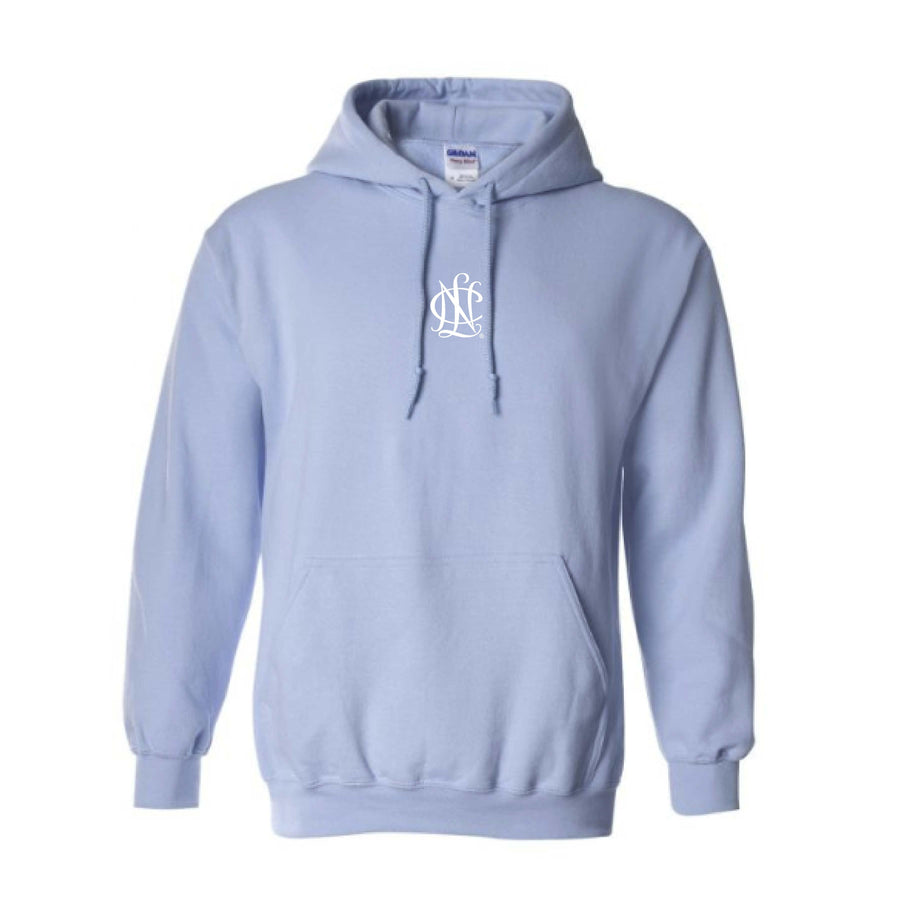NCL Baby Blue Embroidered Icon Hoodie