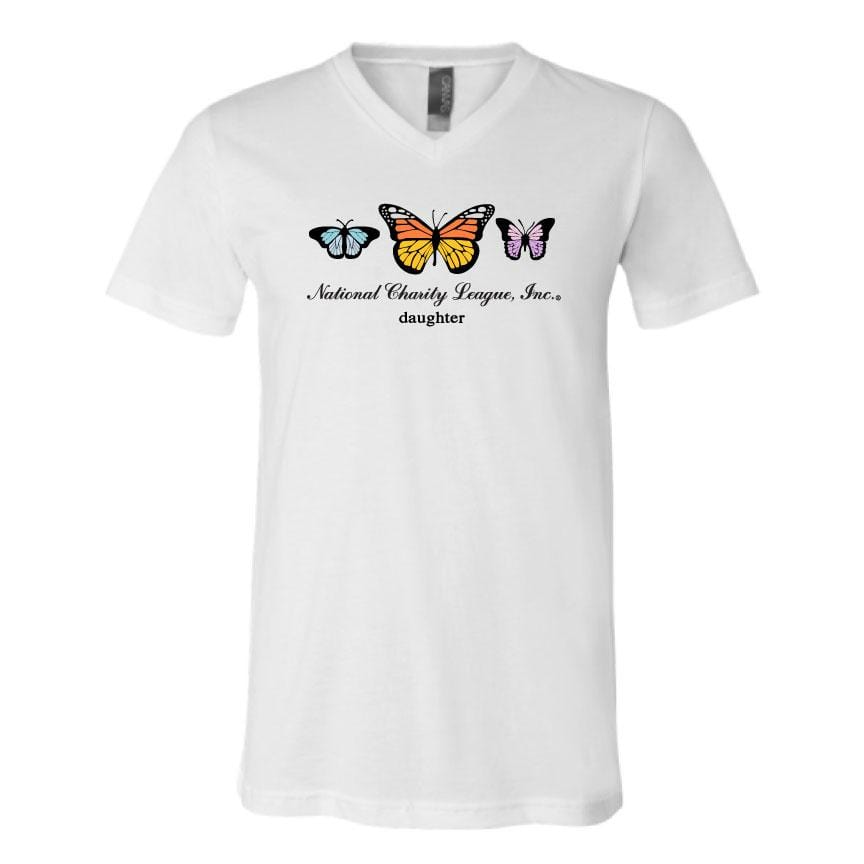 NCL Mom & Daughter Butterfly V-Neck