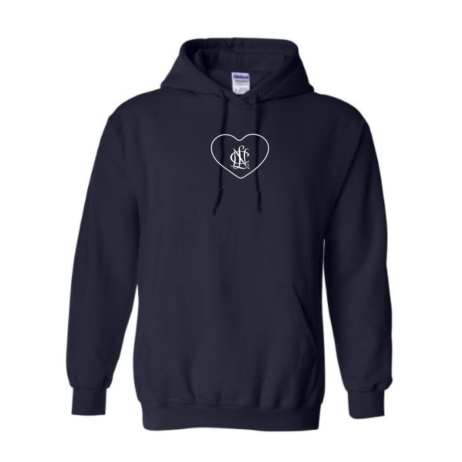NCL Navy Embroidered Heart Icon Hoodie