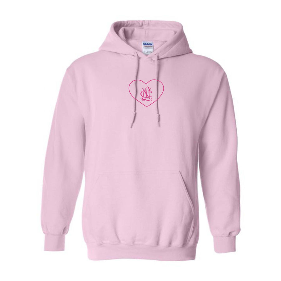NCL Pink Embroidered Heart Icon Hoodie