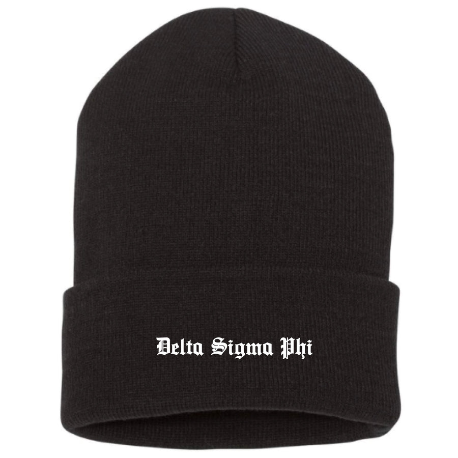 Old English Beanie <br> (available for all fraternities!)