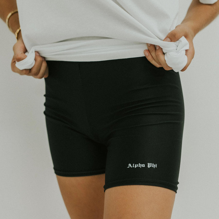 Old English Biker Shorts <br> (available for all organizations!)