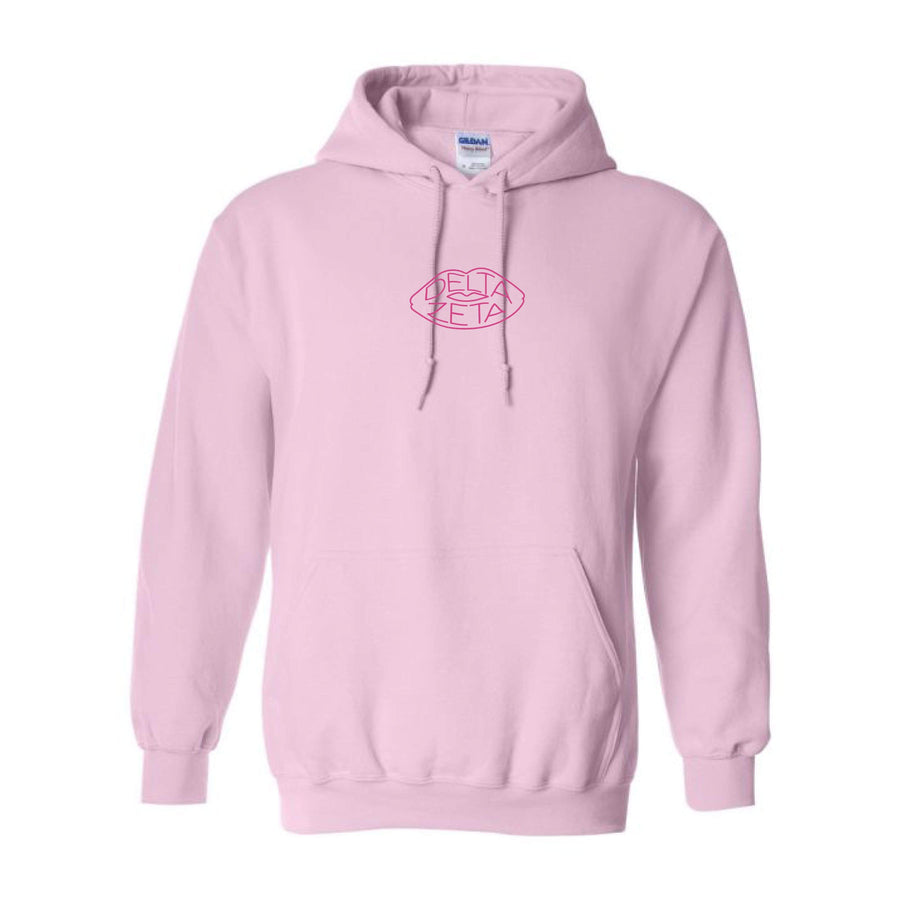 Pink on Pink Embroidered Hoodie <br> (sororities A-D)