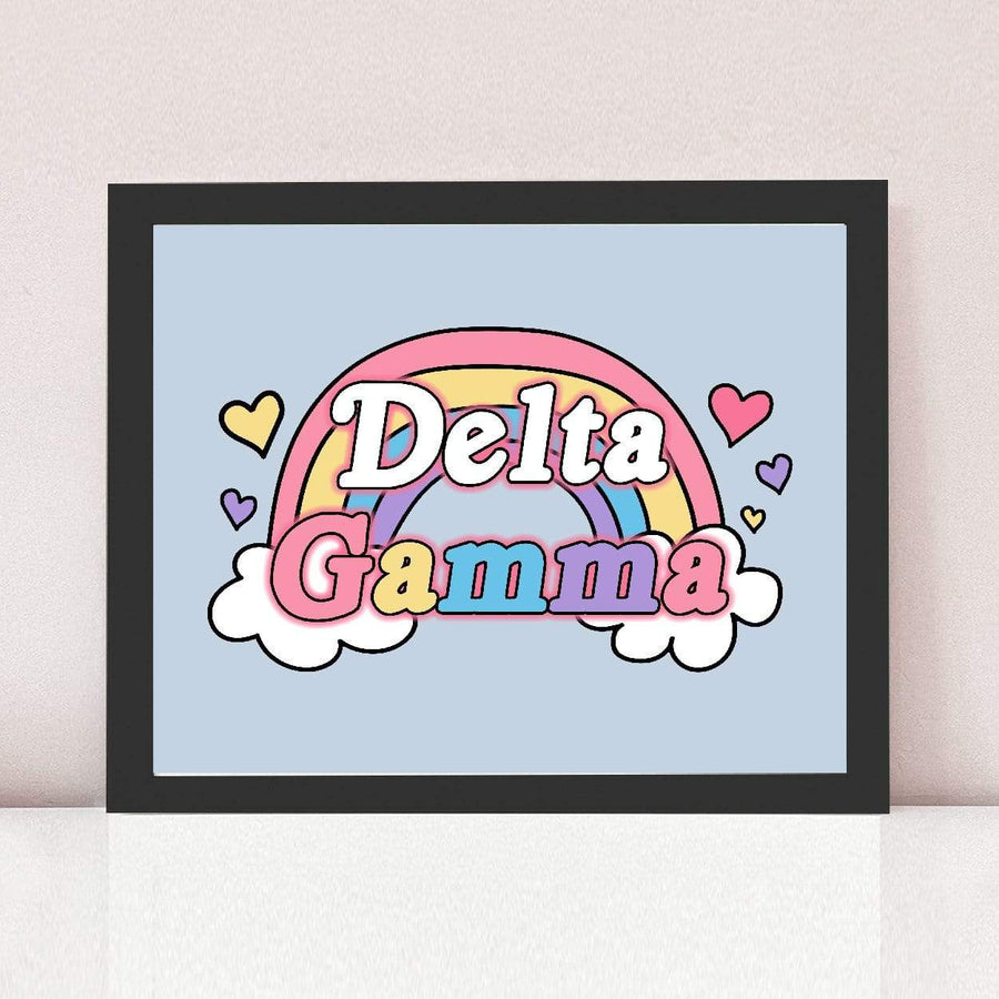 Rainbow Daydream Art Print in Black Frame