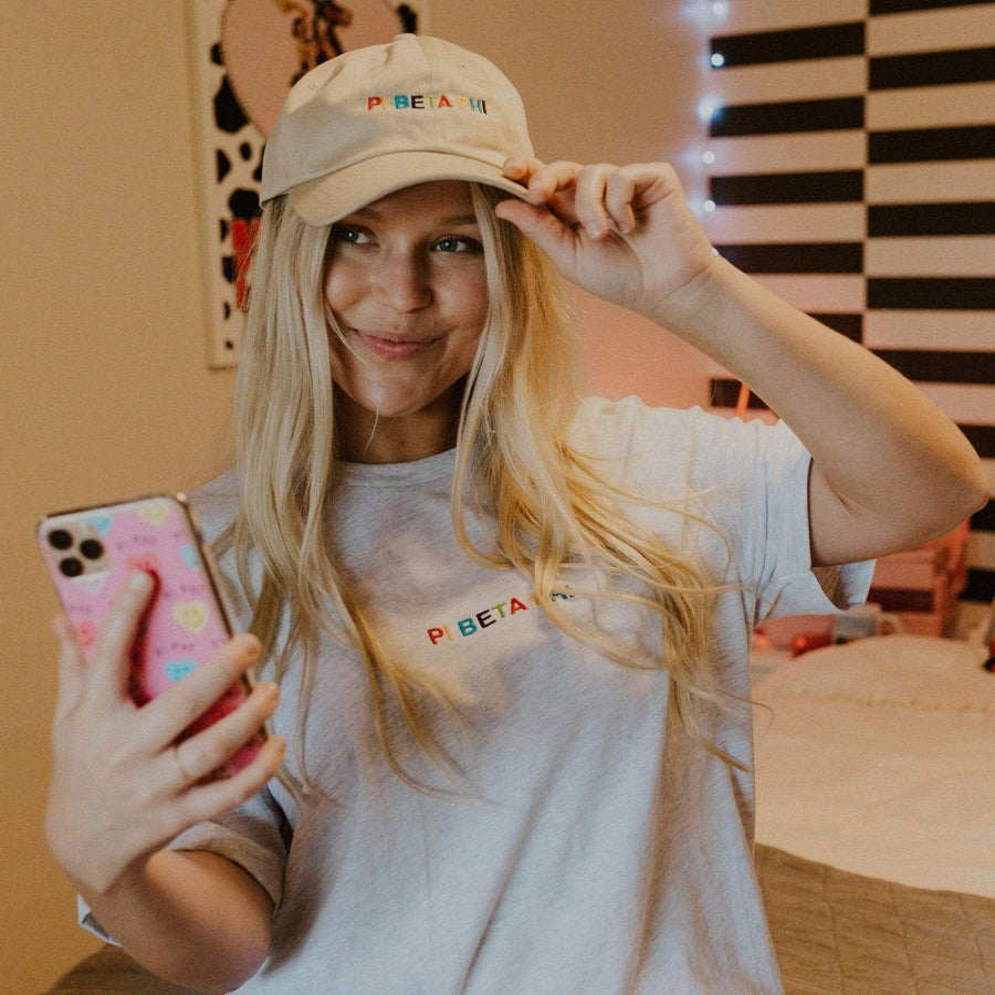 Ali & Ariel Rainbow Embroidered Hat <br> (available for all sororities)
