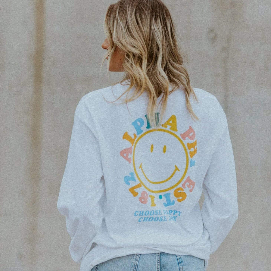 Ali & Ariel Rainbow Smiley Long Sleeve <br> (sororities A-D)