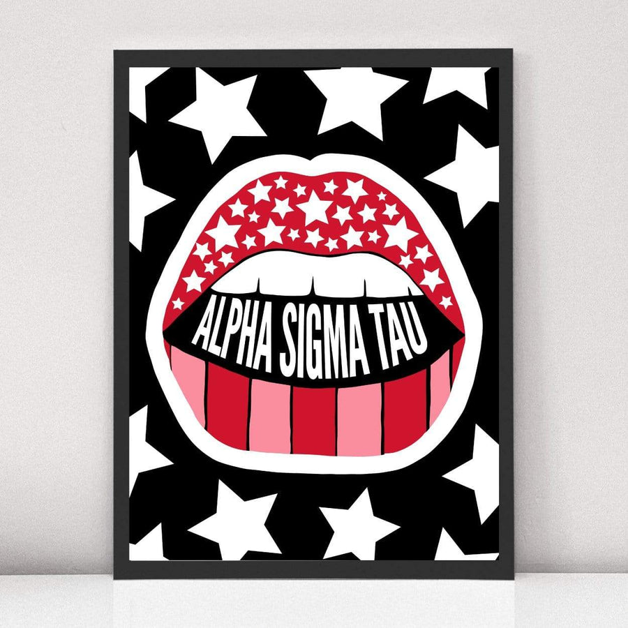 Read My Lips Art Print in Black Frame