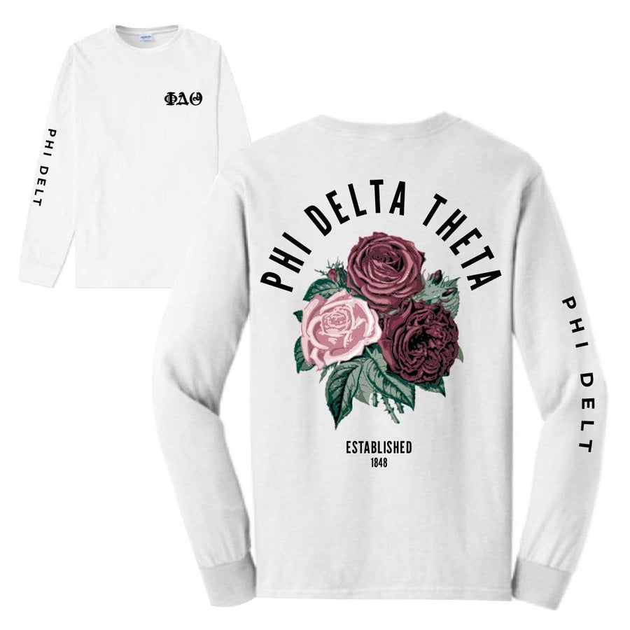 Rose Long Sleeve <br> (available for all fraternities!)
