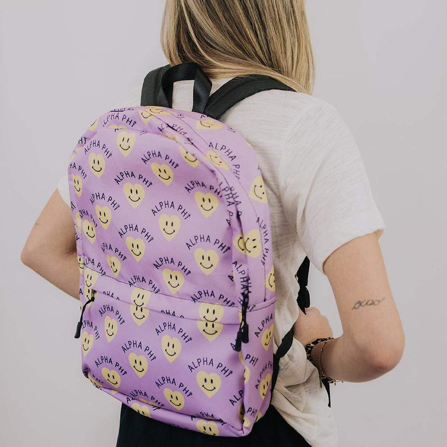 Ali & Ariel Smiley Heart Backpack <br> (available for multiple organizations!)