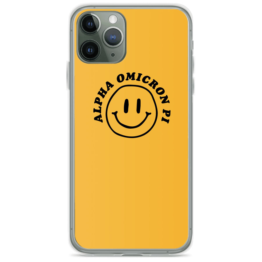Ali & Ariel Smiley iPhone Case <br> (iPhone 11 Pro / 11 Pro Max / SE) Alpha Omicron Pi / iPhone 11 Pro