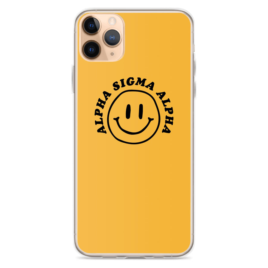 Ali & Ariel Smiley iPhone Case <br> (iPhone 11 Pro / 11 Pro Max / SE) Alpha Sigma Alpha / iPhone 11 Pro Max