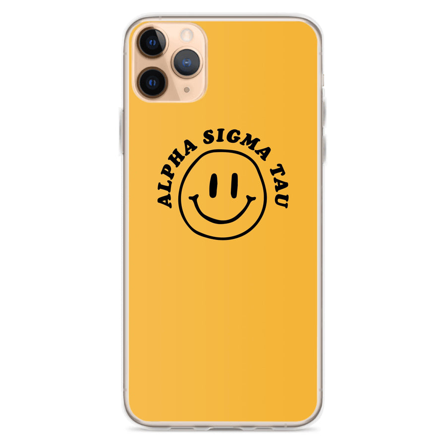Ali & Ariel Smiley iPhone Case <br> (iPhone 11 Pro / 11 Pro Max / SE) Alpha Sigma Tau / iPhone 11 Pro Max