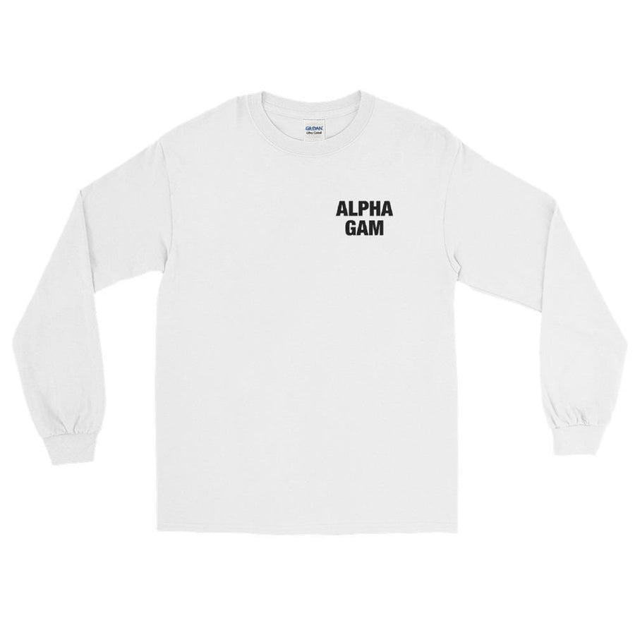 Ali & Ariel Spiral Long Sleeve <br> (available for all organizations!) Alpha Gamma Delta / Large