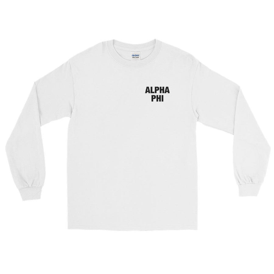 Ali & Ariel Spiral Long Sleeve <br> (available for all organizations!) Alpha Phi / Small