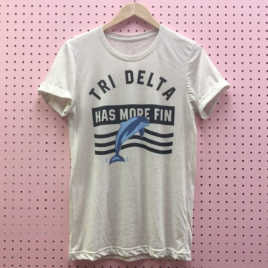 Tri Delta Has More Fin Triblend Tee
